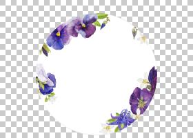 花卉圆形免扣元素素材图片