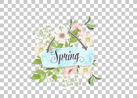 春天植物花卉免扣文艺元素素材