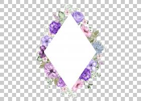 水彩花卉边框