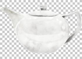 茶壶手绘插画免扣元素素材