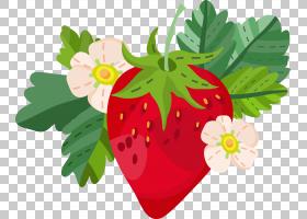 草莓手绘插画免扣元素素材图片