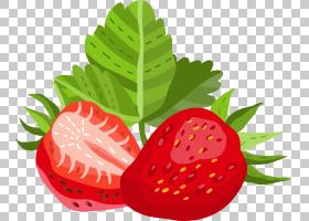 草莓手绘插画免扣元素素材