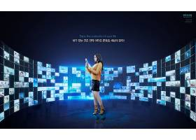 韩式创意互联网社交平台科技主题海报设计