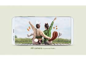 创意特色AR相机滤镜美颜照片展示模板