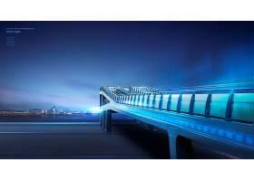 美丽的城市和大桥