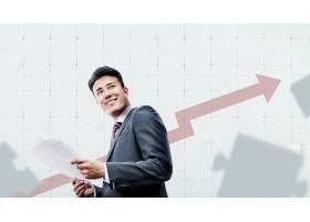 商务男与业绩攀升主题韩式海报设计