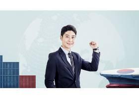 竖起拳头的男子主题韩式海报设计
