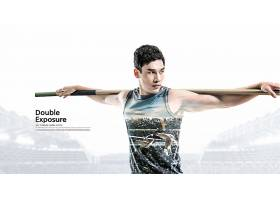 运动员主题简洁时尚海报设计