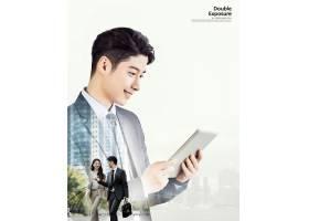 韩国职场年轻男子主题简洁时尚海报设计