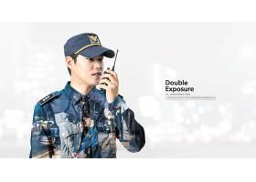 韩国警员主题简洁时尚海报设计