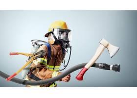救灾与消防人员主题人物海报设计