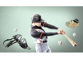 棒球运动员主题人物海报设计
