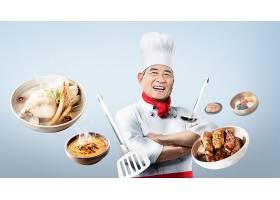 年长的老厨师主题人物海报设计