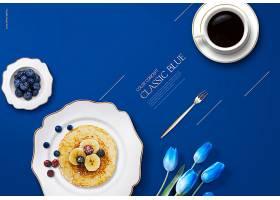 高端大气蓝色主题简约时尚海报设计