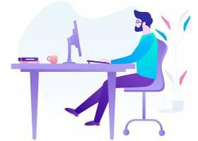 扁平化人物生活方式主题网页插画设计