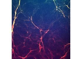 微观世界颗粒线条主题矢量装饰背景