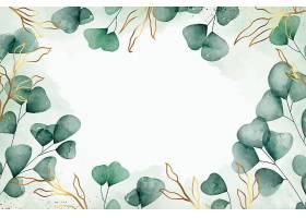 清新植物花卉叶子主题矢量装饰背景