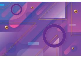 渐变几何图形组合矢量装饰背景
