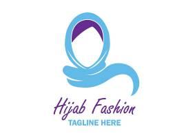 中东女子主题徽章图标LOGO设计