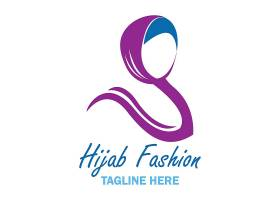 中东女性主题徽章图标LOGO设计