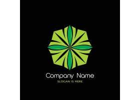 绿色八边形主题徽章图标LOGO设计