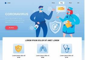 新冠病毒网站网页模板