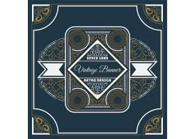 大气曼陀罗欧式花纹边框装饰图案标签标贴设计