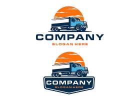 货车货运主题图标LOGO徽章设计