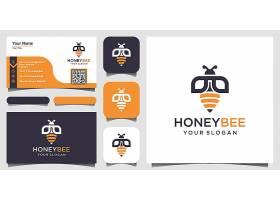 蜜蜂主题图标LOGO徽章设计