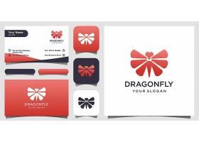 蜻蜓主题图标LOGO徽章设计