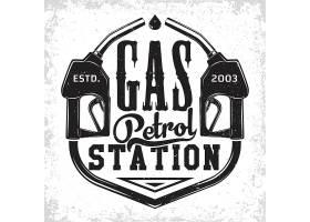 加油汽油加油站主题图标LOGO徽章设计