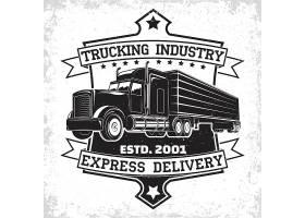 美式大卡车主题图标LOGO徽章设计