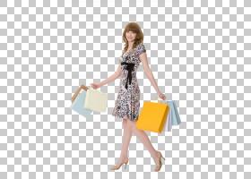 提着购物袋的年轻女性