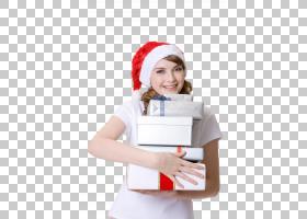 捧着礼物盒的女性