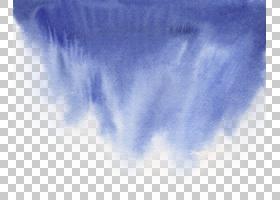 蓝色水彩画免扣元素
