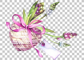 手绘爱心植物花卉标签免扣插画素材图片