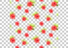手绘水彩植物花卉无缝装饰图案免扣插画素材