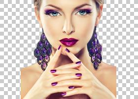 紫色风格女性化妆艺术照