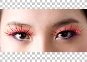 女性眼妆睫毛艺术特写