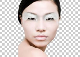 女性白色眼妆