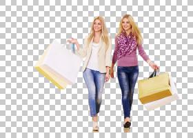 两名逛街购物的休闲女性