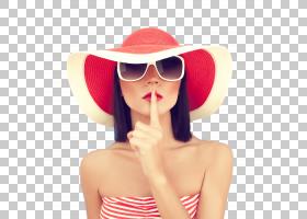 戴帽子的阳光气质女性