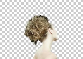 女性金发后脑勺背影