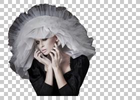 女性丝状头饰艺术照