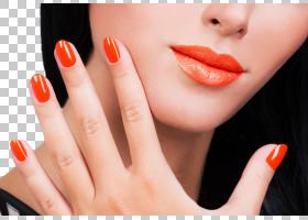 女性嘴唇指甲展示