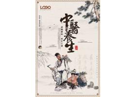 中医养生中国风海报