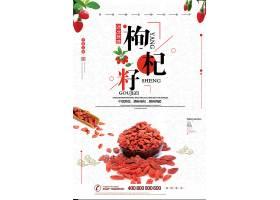 简洁时尚中国风养生枸杞子海报