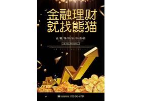 黑金大气金融理财海报