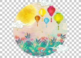 中秋灯笼,黄色,圆,气球,节日,灯笼,嫦娥,月兔,中秋节,月饼,