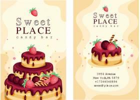 生日蛋糕甜蜜促销主题海报设计